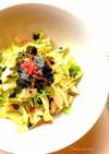韓国海苔で♪キャベツと竹の子サラダ