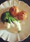 温野菜の味噌チーズソースかけ