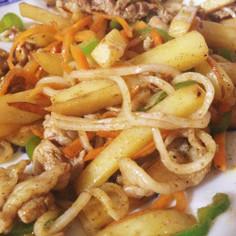 カレー焼き米麺