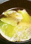 レタスと生姜のコンソメスープ。
