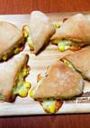 捏ねない コーンとチーズのパン 簡単成形