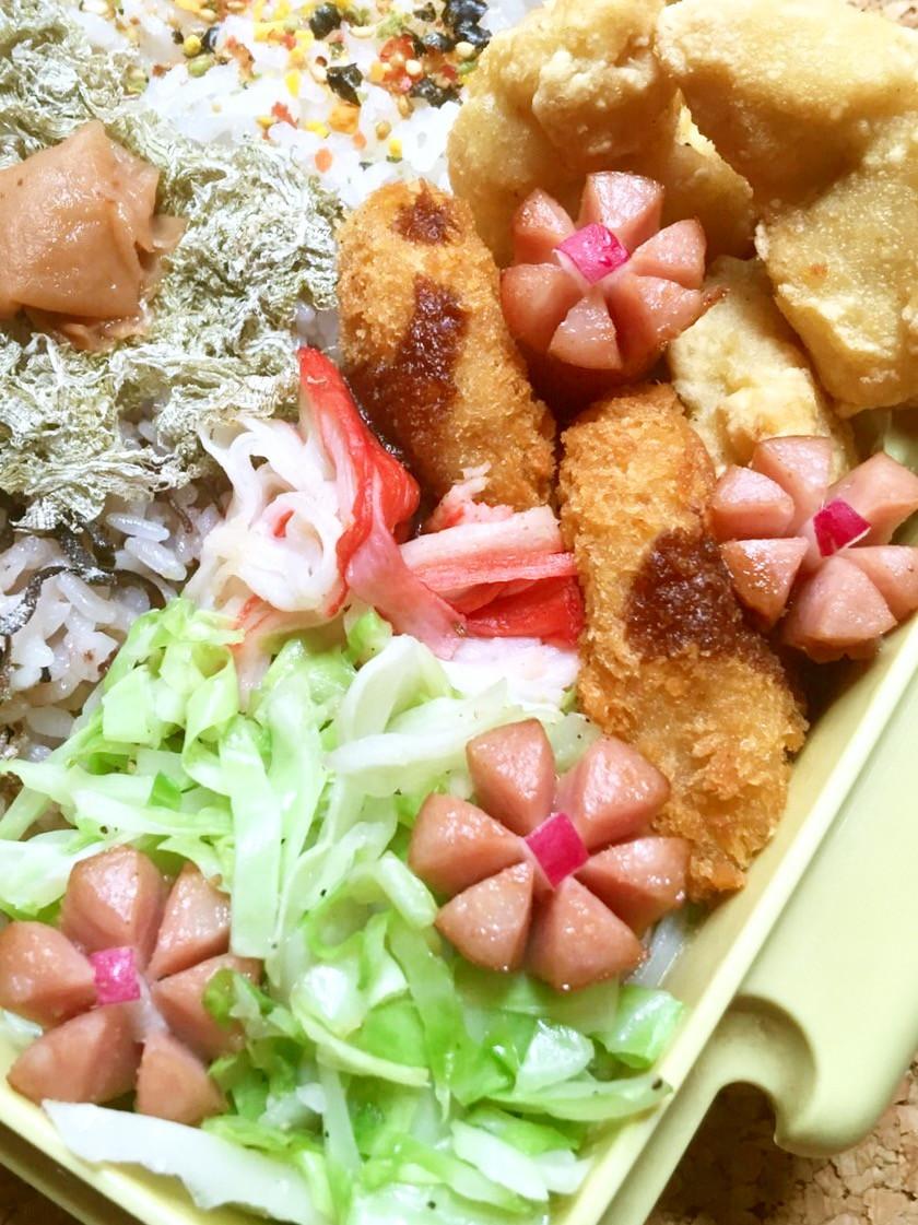 お弁当に♬ウインナーのお花✿咲きました~