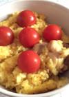 炊飯器で簡単♡鶏パエリア