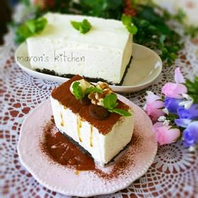 口溶けなめらか♡濃厚レアチーズケーキ