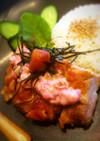 梅の桃色タルタル*鶏照り焼き和ンプレート