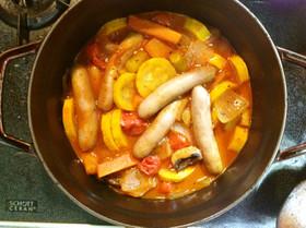 ズッキーニがあったのでラタトゥイユ風煮物