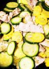 ズッキーニと豚肉のヨーグルトバジルソテー