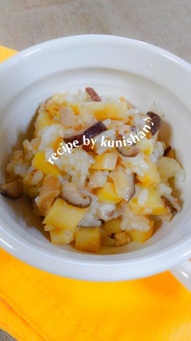 筍と椎茸のバター醤油ライス♪