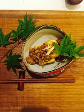 揚げ出し豆腐の肉味噌あんかけ