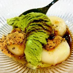 簡単☆チアシードきな粉の豆腐白玉だんご