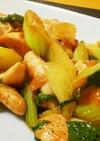 さっぱり梅味☆鶏のササミ&セロリの炒め物