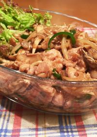 豚もも肉と舞茸のオイスターソース炒め☆