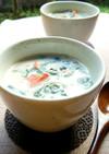 鮭とほうれん草の豆乳コンソメスープ