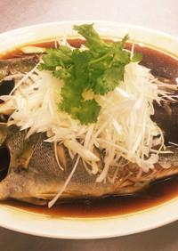 中華風イサキの姿蒸し(清蒸鮮魚)