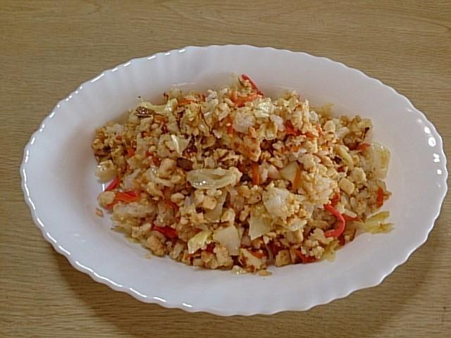 ダイエット豆腐でかさましチャーハン