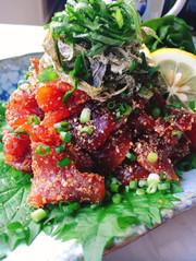鰹のりゅうきゅう(大分の漬け料理)の写真