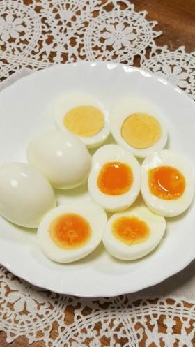 ゆで卵☆やや半熟卵☆半熟卵の作り方 ♬︎