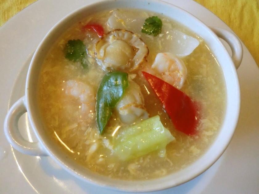 ♪海鮮・野菜のトロトロ卵中華風スープ