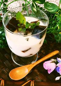 冷たい牛乳と一緒に♡カフェオレ氷ゼリー