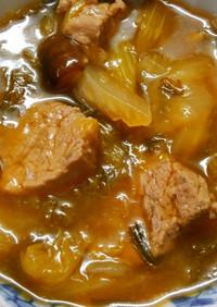セロリとレタスと豚ヒレ肉のオイスター煮!