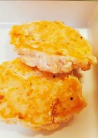 ふわふわ☆豆腐入り鮭ハンバーグ