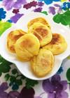 離乳食かぼちゃフレークで豆腐ホットケーキ