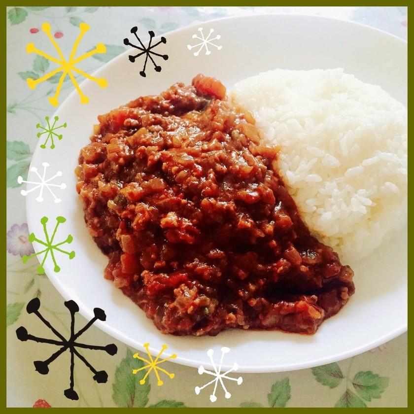 野菜ゴロゴロ挽肉どっさり簡単キーマカレー