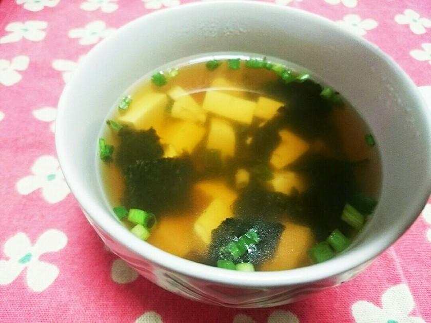 豆腐とねぎの簡単スープ