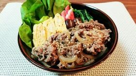 お弁当に♪時短簡単♡すき焼き丼