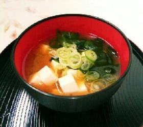 簡単★豆腐とわかめの味噌汁