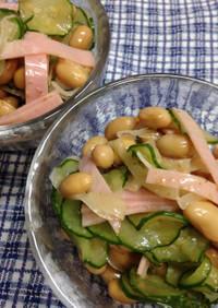 ローリングストック♪大豆缶の簡単サラダ