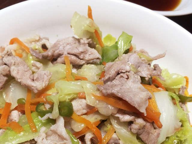 キャベツ 豚肉 ポン酢