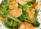 海老とブロッコリーのオイマヨ炒め