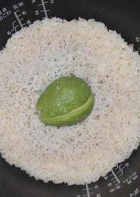アボカド と しらす の 炊き込みご飯