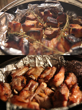 豚バラ/スペアリブの味噌漬けのロースト