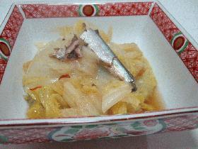 白菜とオイルサーディンの柔らか煮