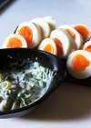 簡単ゆで卵ネギマヨソース