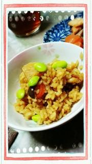 ブリ大根の煮汁で炊き込みご飯!の写真