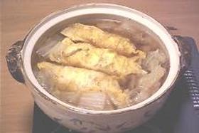 白菜と卵巻き煮込み鍋