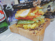 ボリューム満点 サンドイッチの写真
