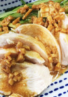 とりハムの酢生姜バンバンジー