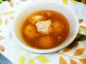 ベビーちゃんと一緒に☆まぐろ団子のスープ