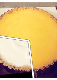 レモンカードのレアチーズケーキ