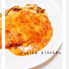 簡単チーズトマトがけ◇ガーリックチキン◇
