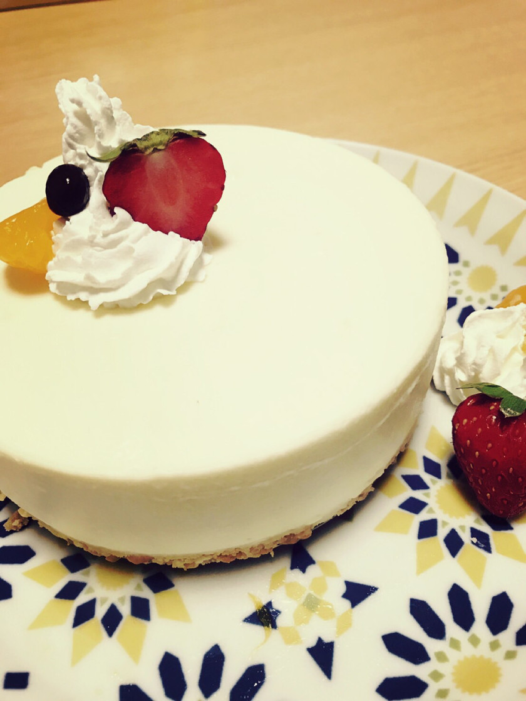 ♡ヨーグルト不要 簡単レアチーズケーキ♡