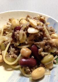 簡単にできる豆とひき肉のおかず