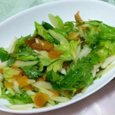 セロリと福神漬けのサラダ