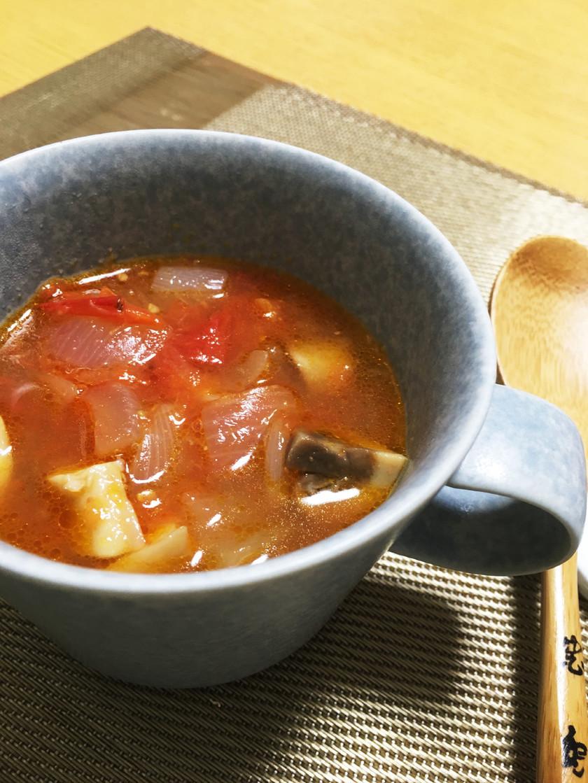 ■きのこたっぷりトマトスープ■