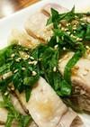 夏はサッパリ茹で鶏で!~梅しそポン酢~