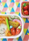 簡単★幼稚園お弁当 スパゲティ頭の女の子